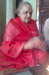 Acharya Vagish Shastri bei seinem 82. Geburtstag im Jahr 2015